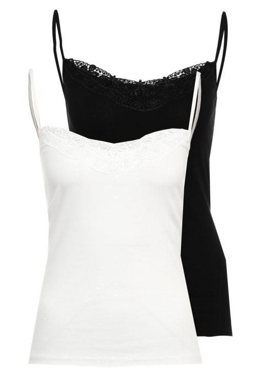 Vero Moda VMNEW RATLI 2 PACK Top black/snow white