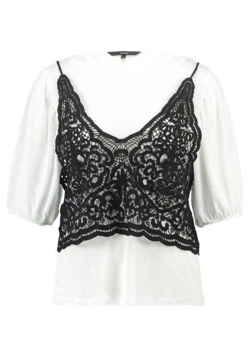 Vero Moda VMNOVO  Camiseta print snow white/black