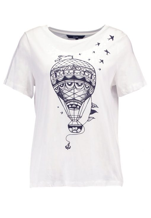 Vero Moda VMBALLOON Camiseta print snow white/black