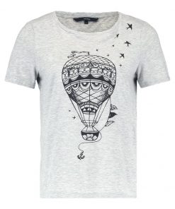 Vero Moda VMBALLOON Camiseta print light grey melange/black