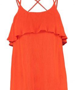 Vero Moda VMCRINKLA Top mandarin red