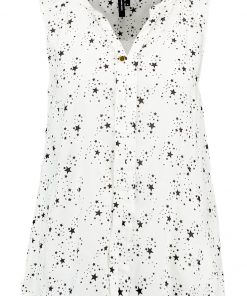 Vero Moda VMMANO MIX Blusa snow white/black stardust