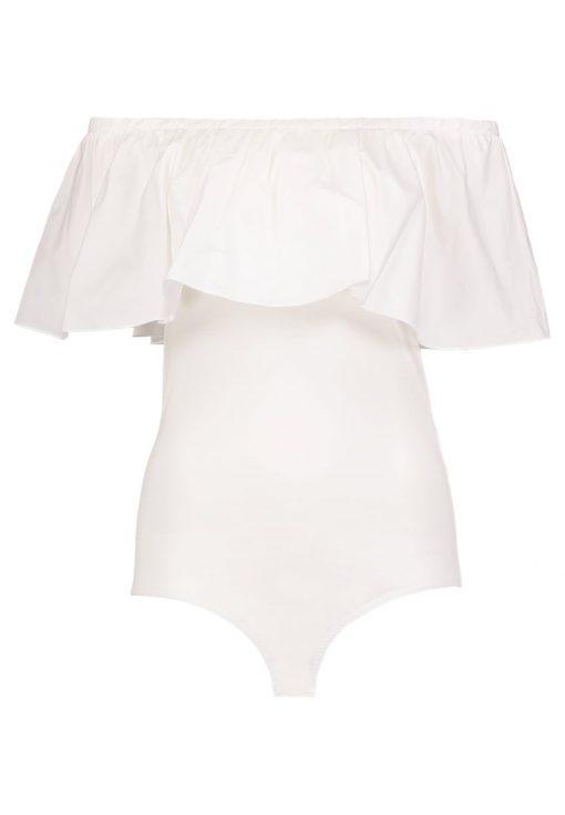 Vero Moda VMKATIE OFF SHOULDER Camiseta print snow white