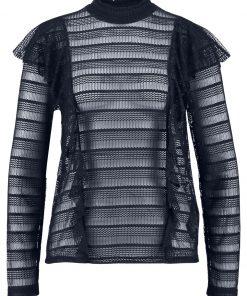 Vero Moda VMLOLA FRILL Camiseta manga larga navy blazer
