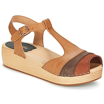 Swedish hasbeens Sandalias 90'S-T-STRAP-WEDGE para mujer