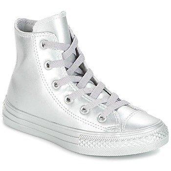 Converse Zapatillas altas CHUCK TAYLOR ALL STAR METALLIC LEATHER HI SILVER/SILVER/SILVER para niña