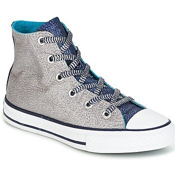 Converse Zapatillas altas CHUCK TAYLOR ALL STAR SHINE + SHIMMER HI WOLF GREY/MIDNIGHT NAVY para niña